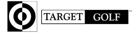 Target Golf • Portable Golf Game and Driving Range Logo